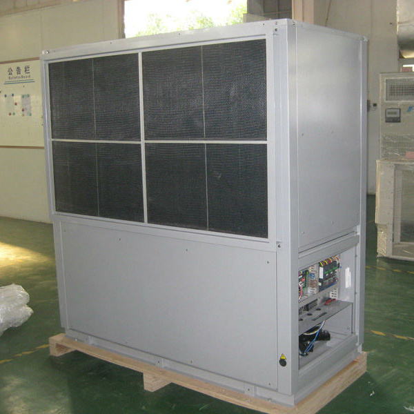 Packaged floor standing water source geothermal heat pump  cooling and heating air conditioner for large room