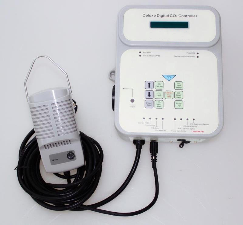Greenhouse Accessories Natural Gas  CO2 Generator & Controller with CO2 Sensor Carbon Dioxide for Plants Hydroponic Control