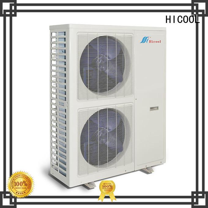 HICOOL split system heat pump supply for villa