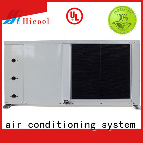 parameter water cooled heat pump package unit cooled for apartments HICOOL