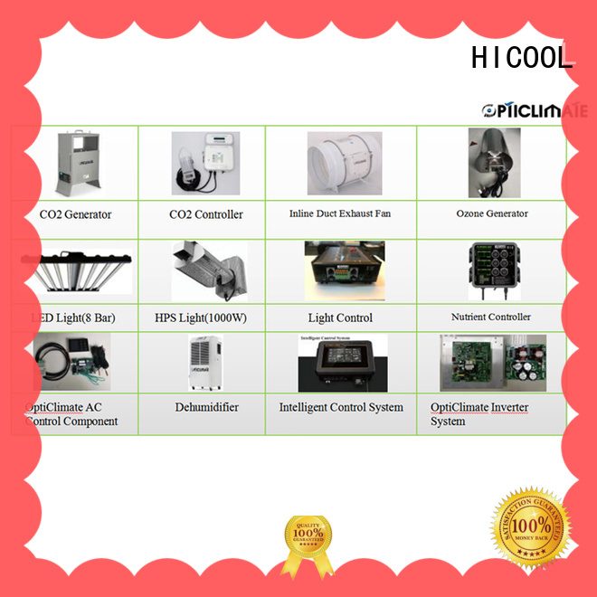 HICOOL practical co2 system factory for greenhouse
